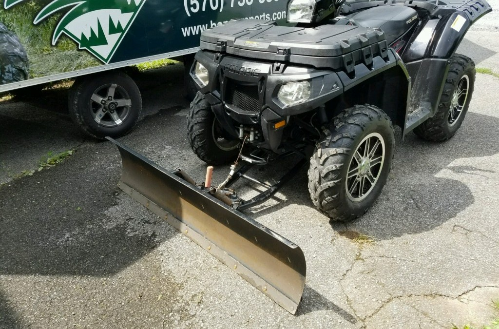 Shoveling Snow is No Fun.   We can install a plow on any ATV in-stock!