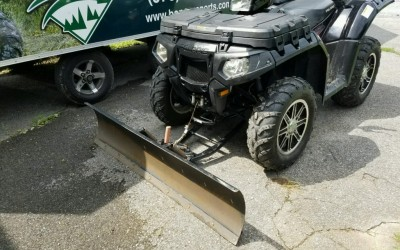 Winter Is Coming.  We can install a plow on any ATV in-stock.