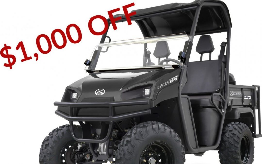 $1,000 OFF Any American Landmaster For a Limited Time!