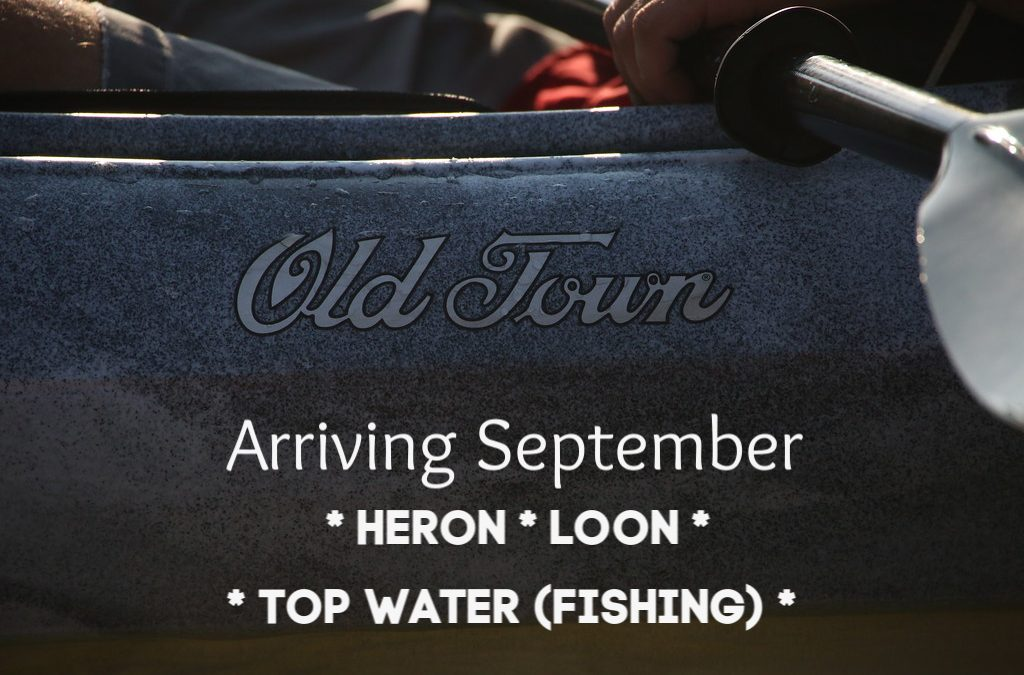 A limited Quantity of Old Town Kayaks on order.